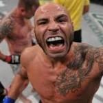 Ben Saunders does a little celebrating after his $50,000 UFC performance winning bonus!